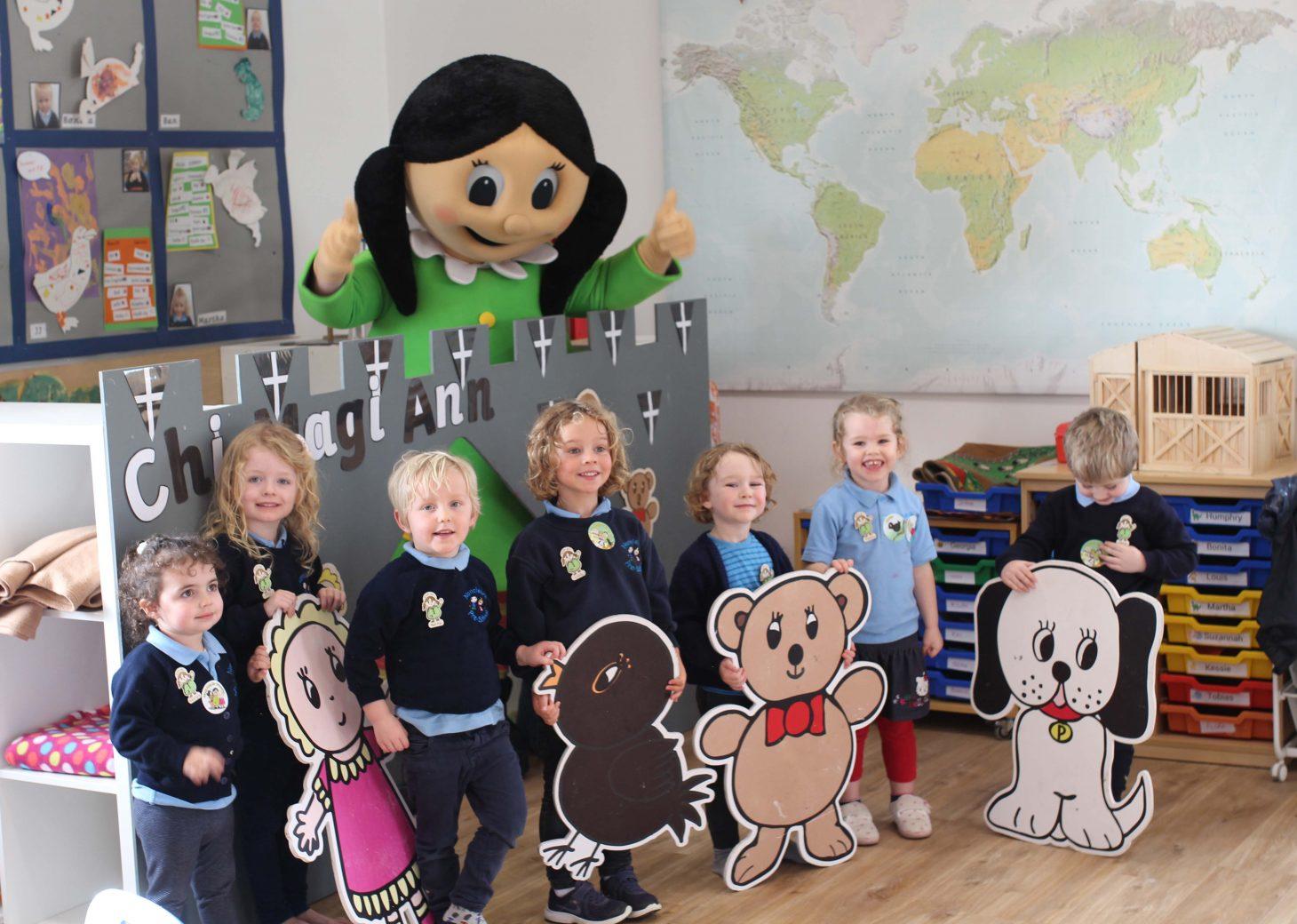 Pre-school children learn Cornish with Magi Ann